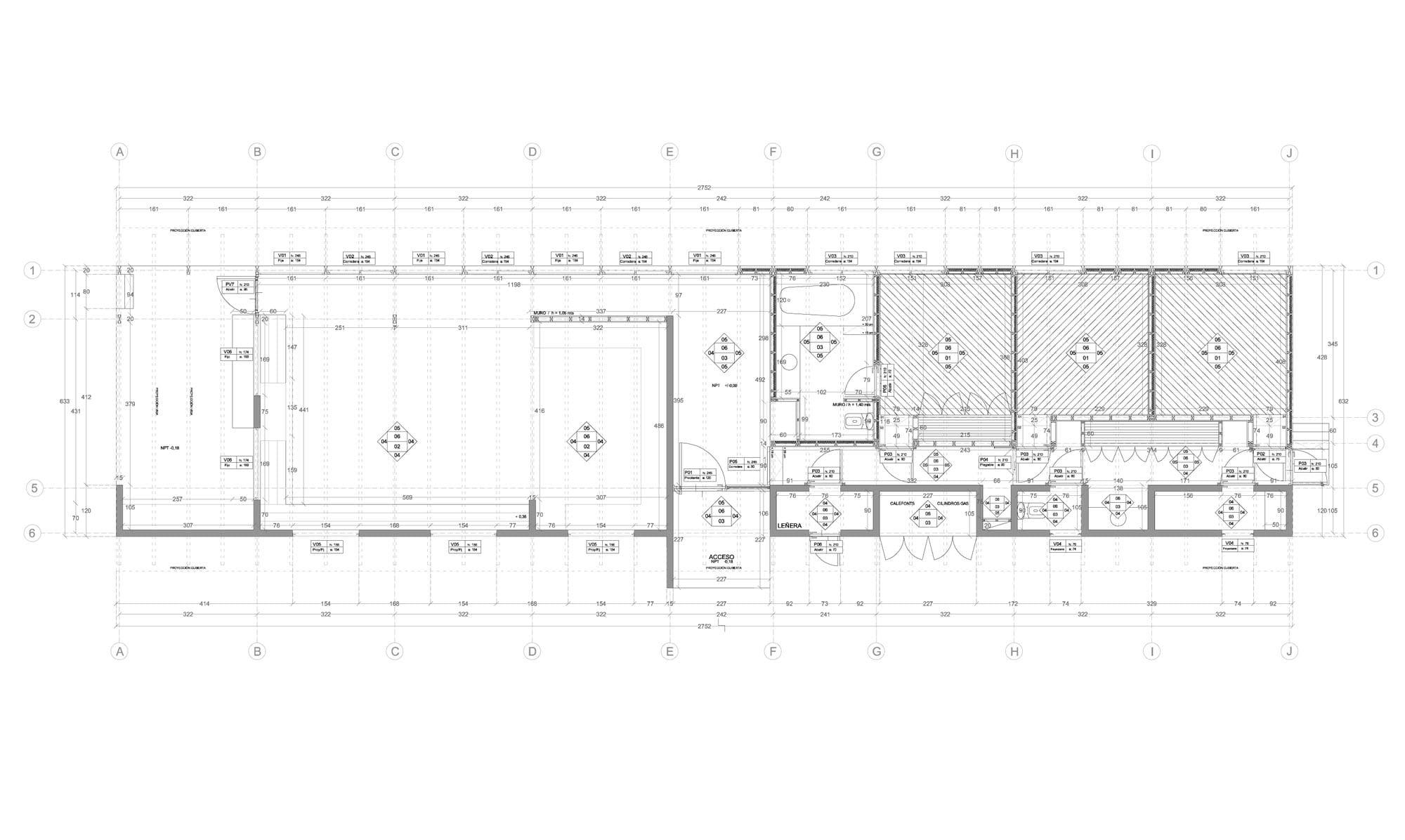 Planos de casa de campo de un piso construye hogar for Planos de casas de dos pisos con medidas