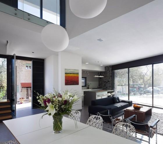 Decoración de interiores de sala moderna y sencilla