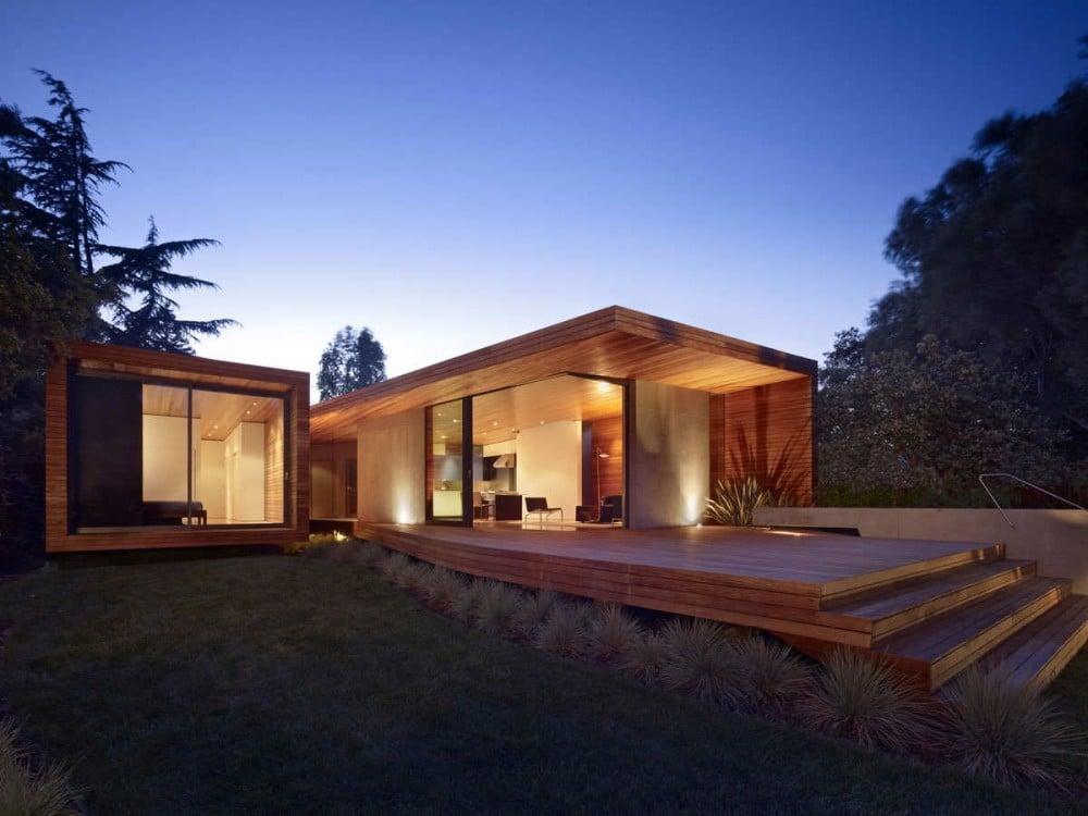 Plano de casa moderna de un piso construye hogar - Casas modernas de madera ...