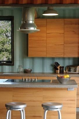 Diseño de cocina en casa contenedor