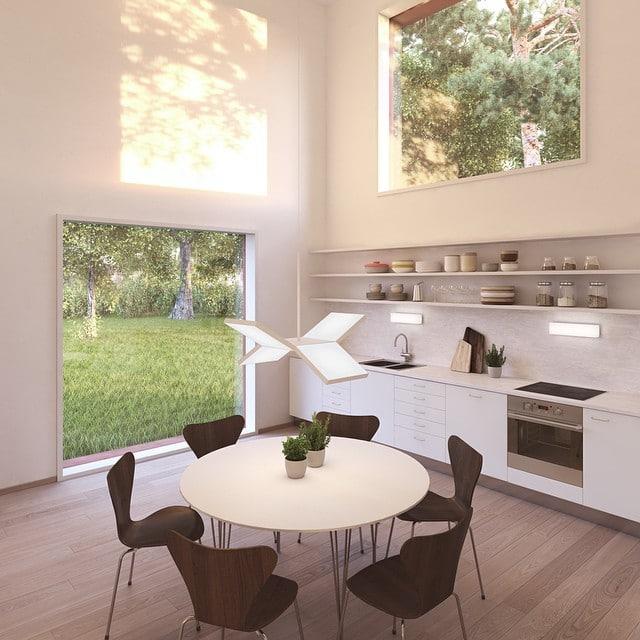 Planos de casa cuadrada peque a y moderna construye hogar for Decoracion de techos de salas