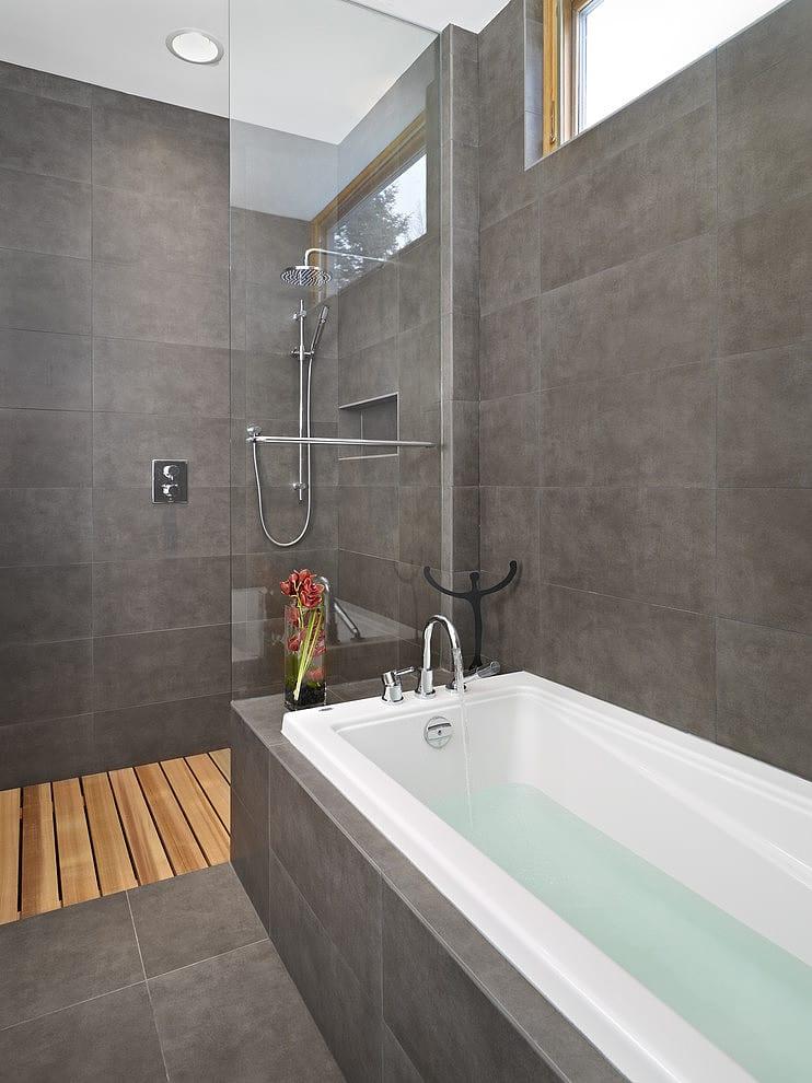 Baños Con Azulejos Grises ~ Dikidu.com