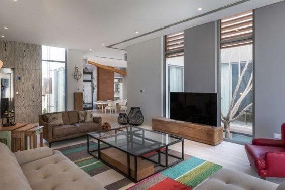 Decoración de interiores de sala moderna