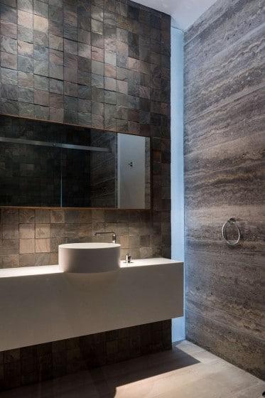 Exclusivo diseño de lavabo y cuarto de baño de mármol y piedra