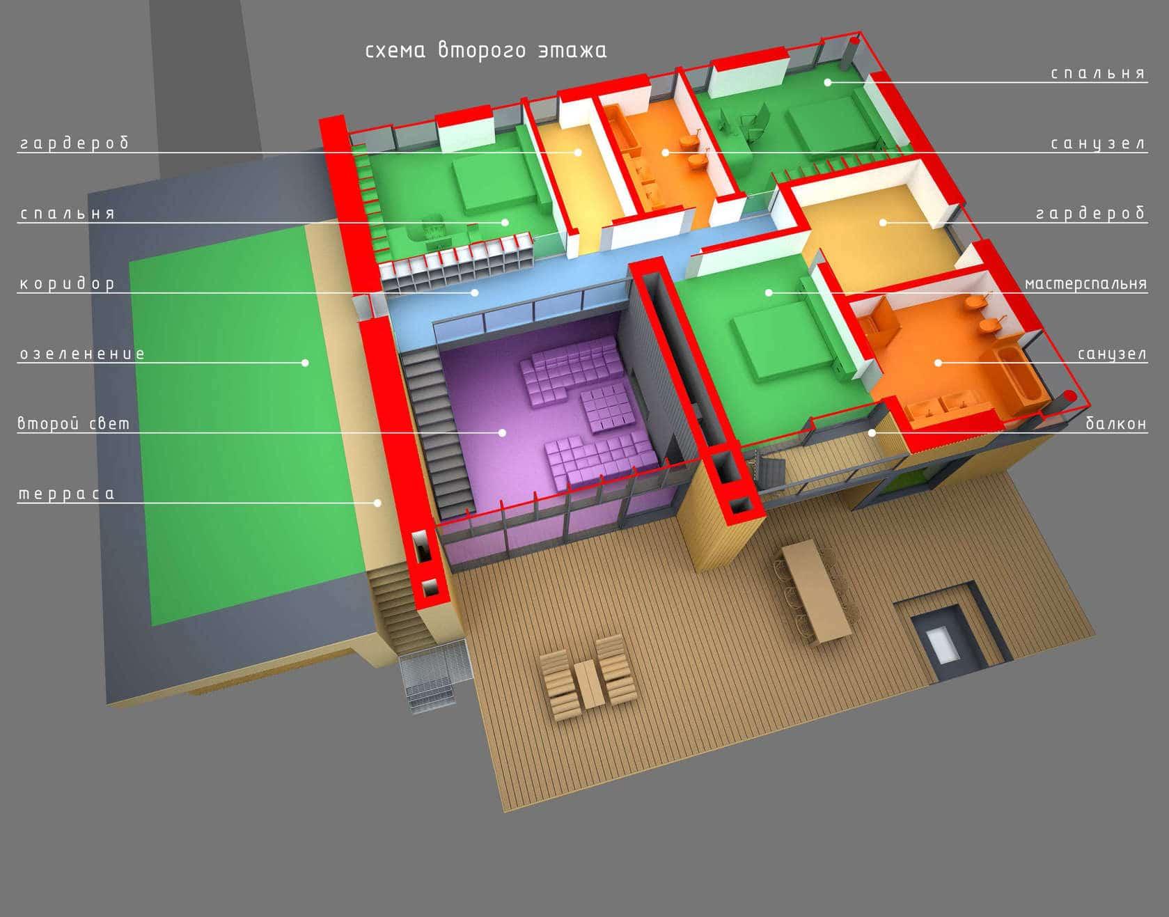 Diseno de casa moderna de dos plantas planos y fachadas - Planos de casas de 2 plantas ...