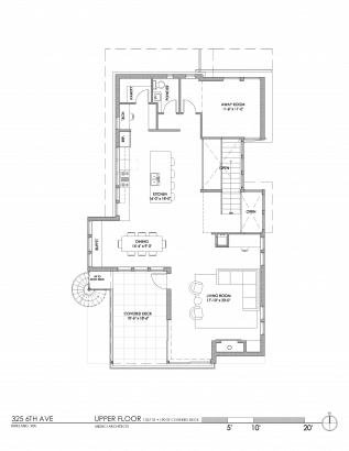 Plano del segundo piso de casa ecológica