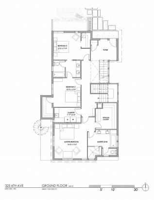 Plano el primer piso de la casa ecologica