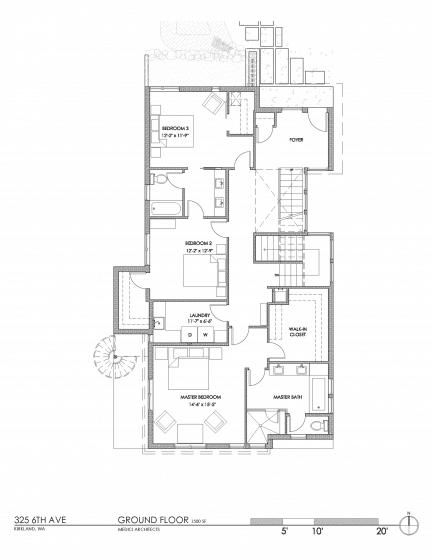 Plano el primer piso de la casa ecológica