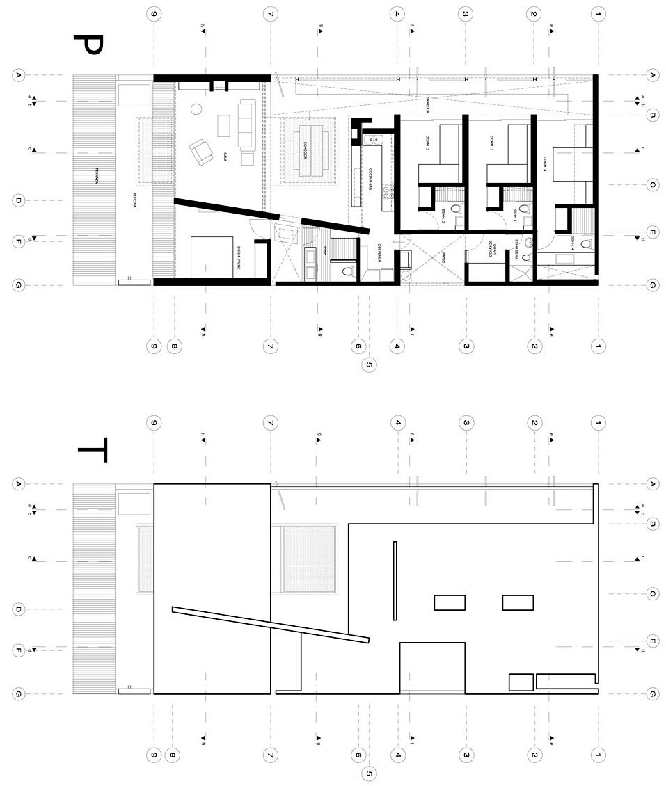 Dise o de casa de playa peque a planos construye hogar for Planos de piletas de natacion