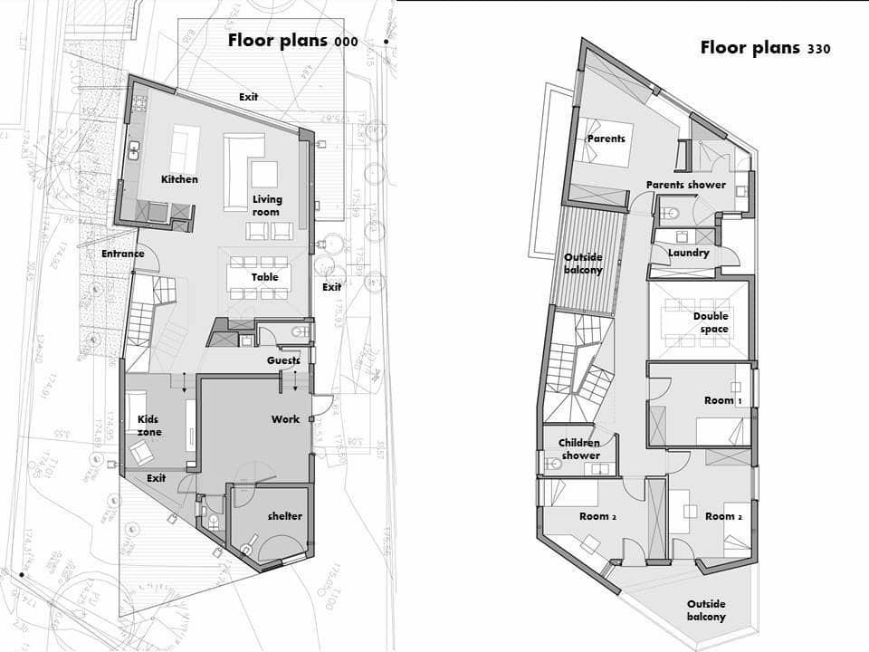 Dise o de casa moderna de dos pisos planos construye hogar for Planos casa dos plantas modernas