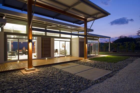 Detalles constructivos de casa campo moderna