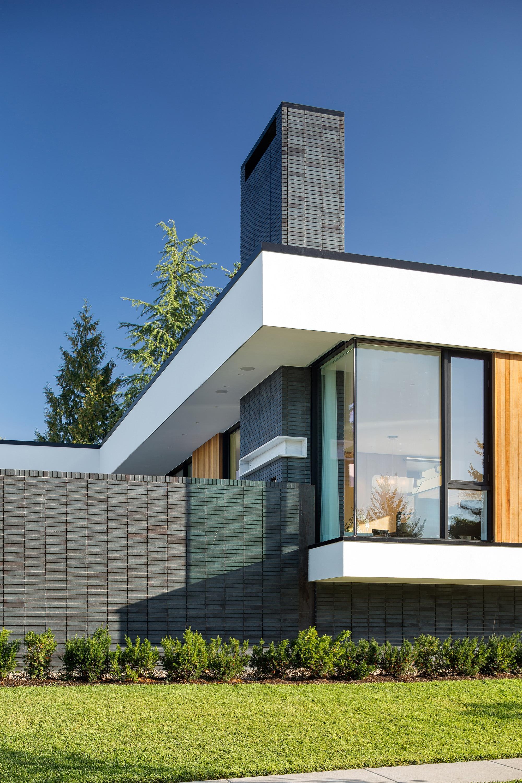 Fachadas grises good with fachadas grises awesome for Casa moderna un piso