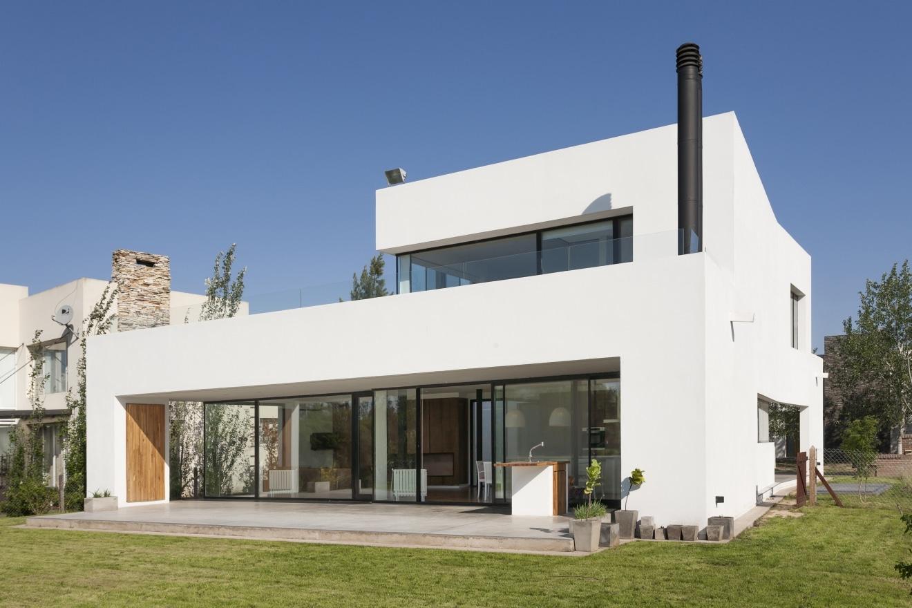 Planos de casa de dos pisos moderna construye hogar for Disenos de fachadas de casas modernas