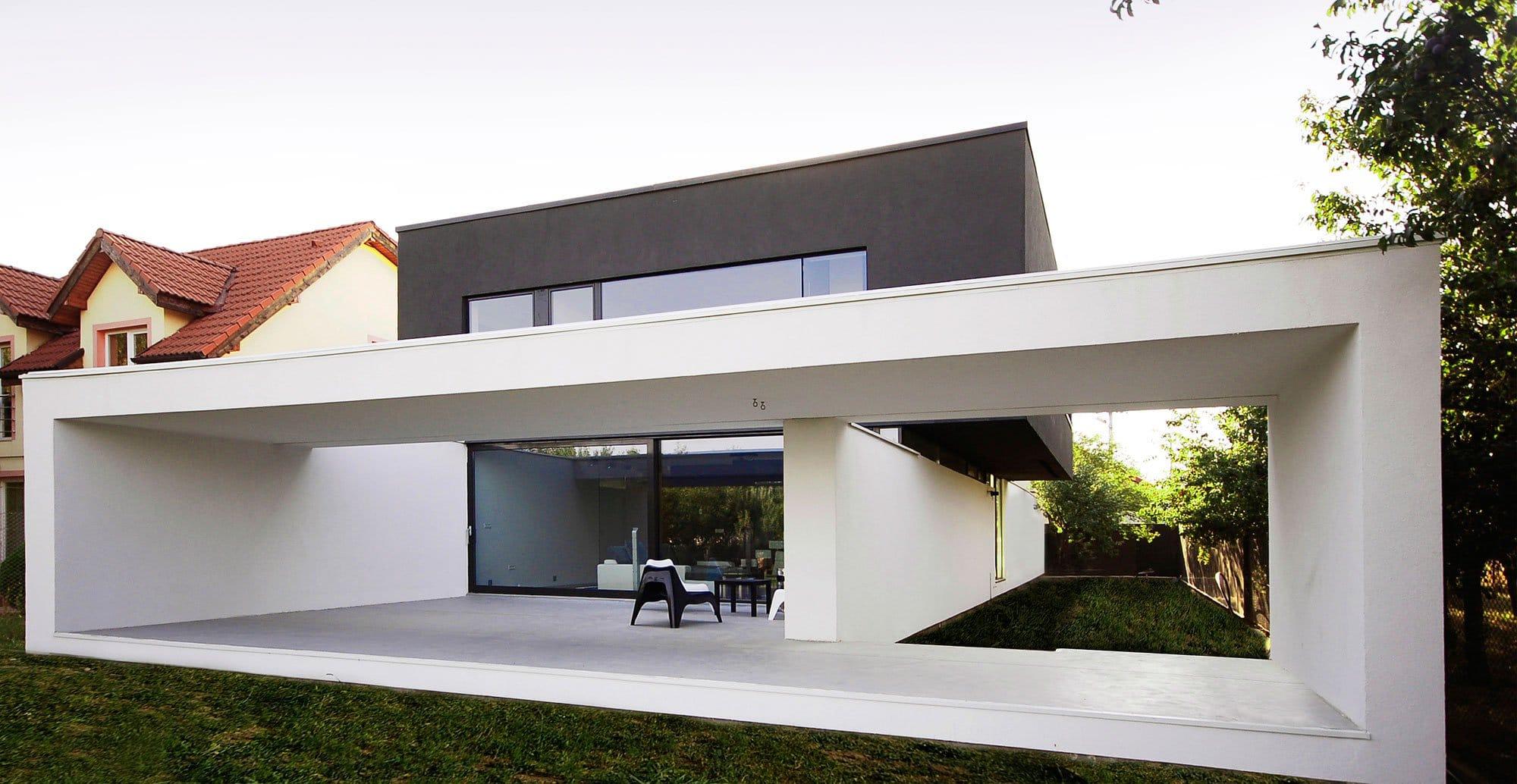 diseo de casa moderna de dos pisos construida en hormign
