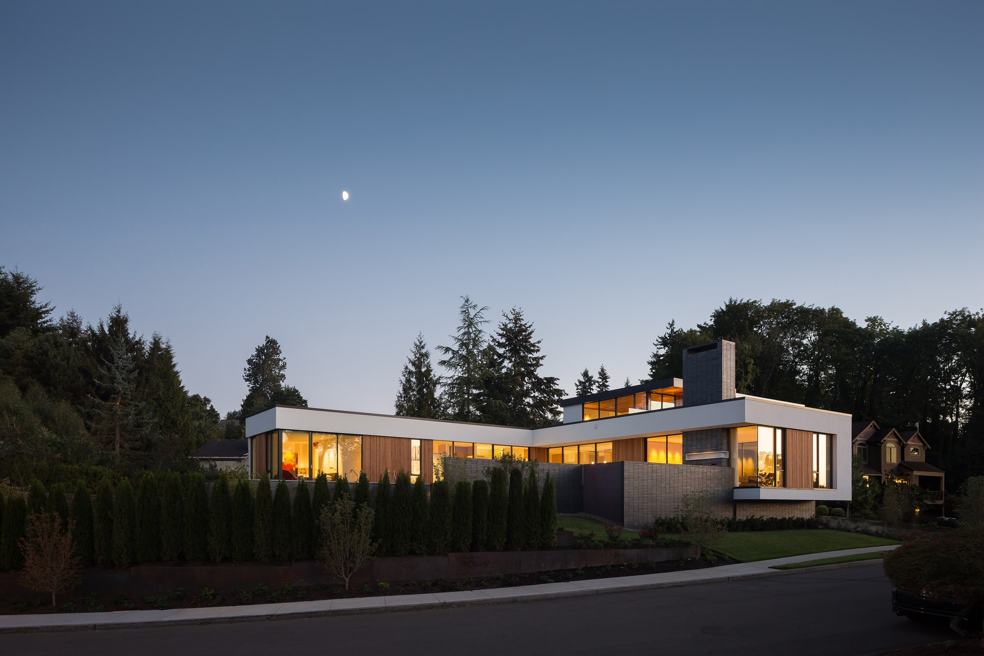 Dise o de casa de un piso moderna planos construye hogar for Casa moderna l