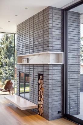 Diseño de chimenea moderna con cerámicas