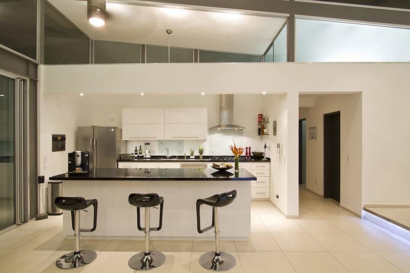 Diseo De Cocina Moderna Con Isla Casa Una Planta
