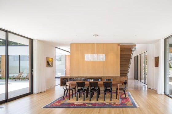 Diseño de comedor de casa de un piso