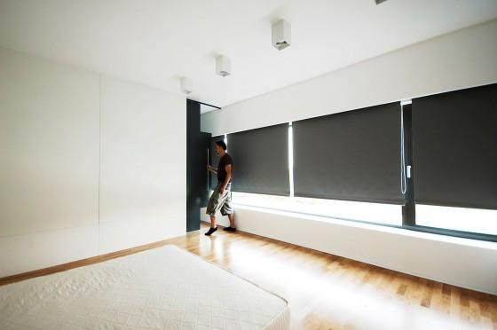 Diseño de cortinas estor enrollables color negro