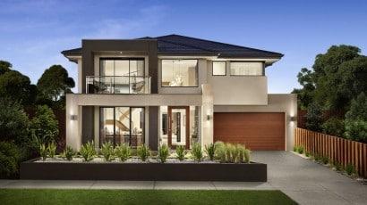 Diseño de fachada hermosa casa dos pisos