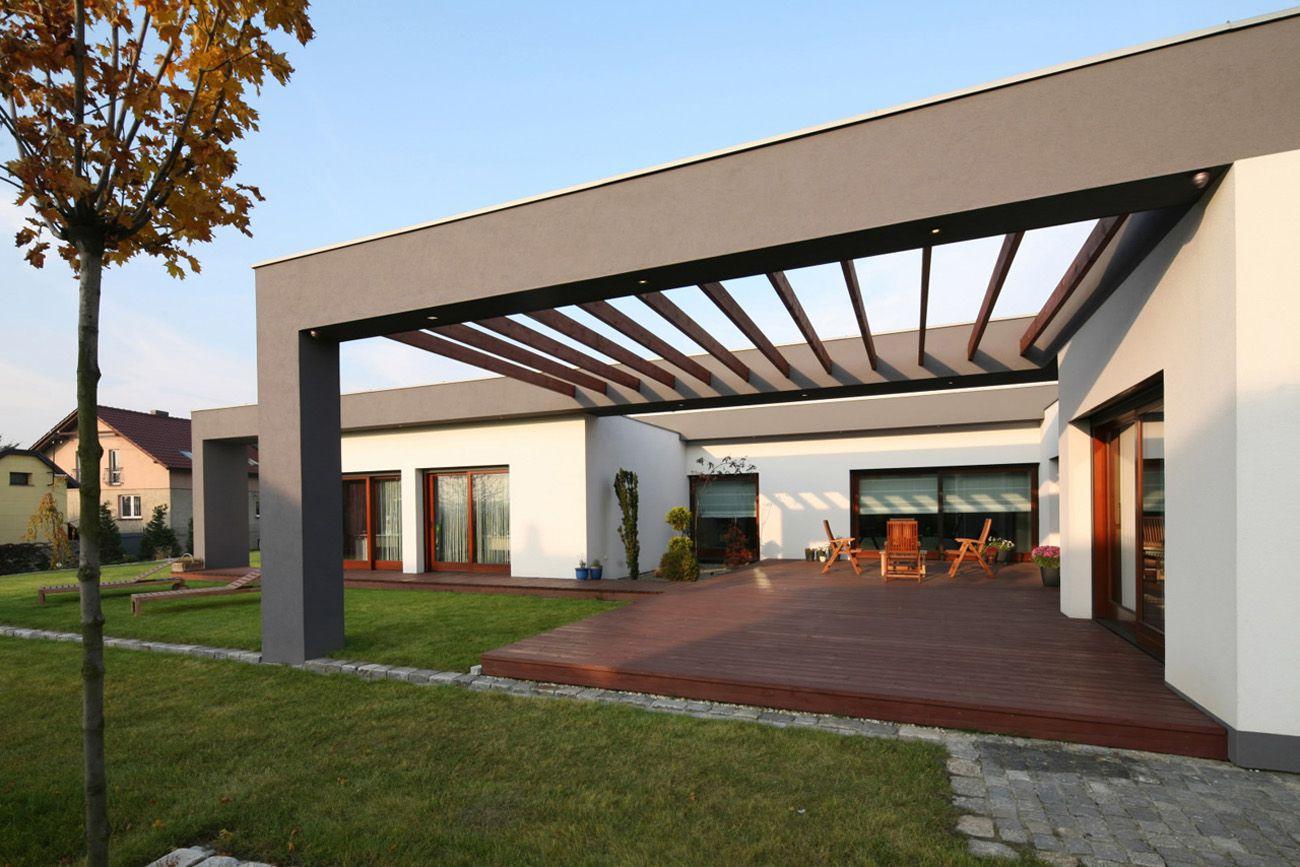 Dise o de casa de una planta con planos construye hogar for Techos de terrazas modernas