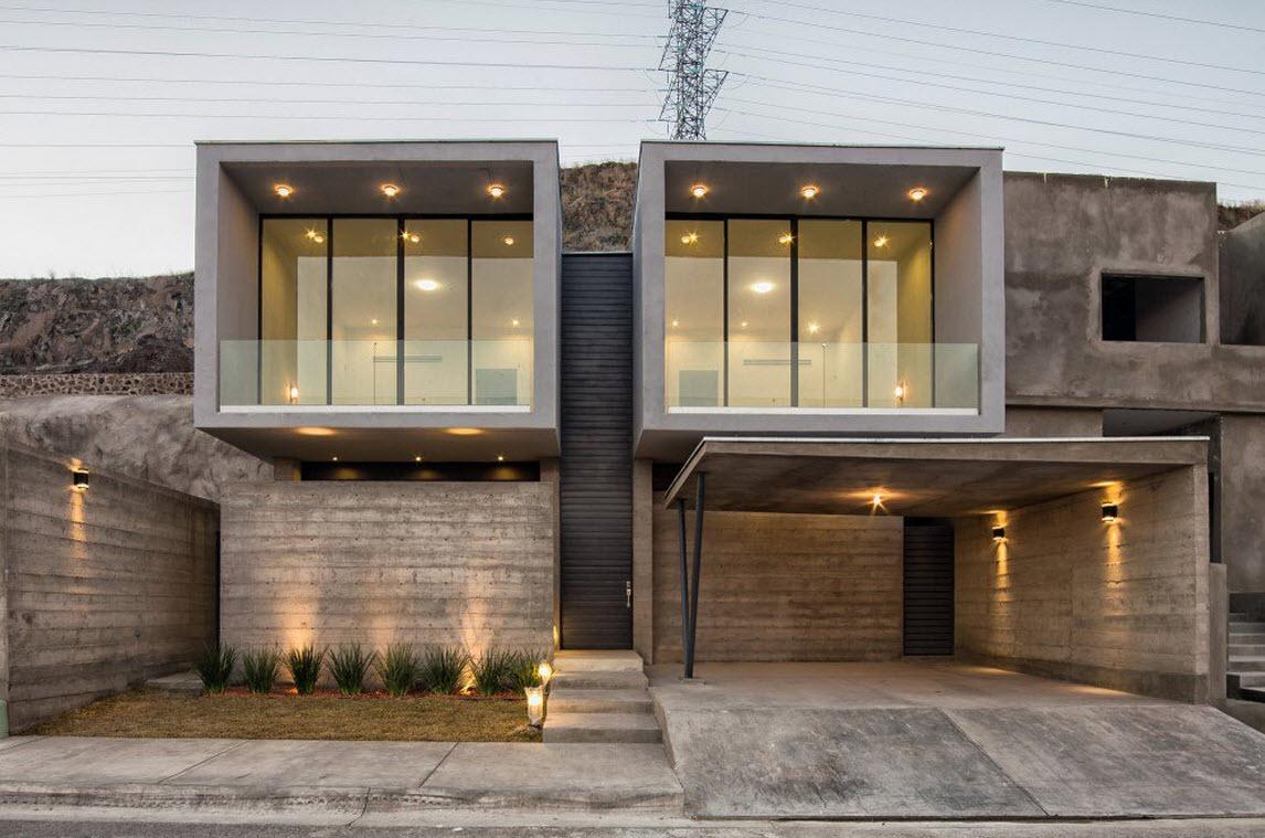 Planos de casa dos pisos de hormig n construye hogar - Materiales de construccion para fachadas ...