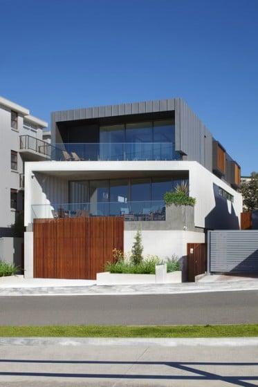 Fachada de casa moderna tessellate architecture and design