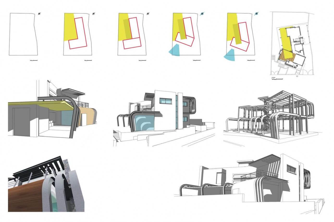 Gr fico 3d de detalles constructivosn de moderna casa de for Construye tu casa en 3d