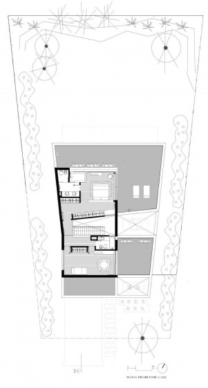 Plano de casa de dos plantas - segundo nivel