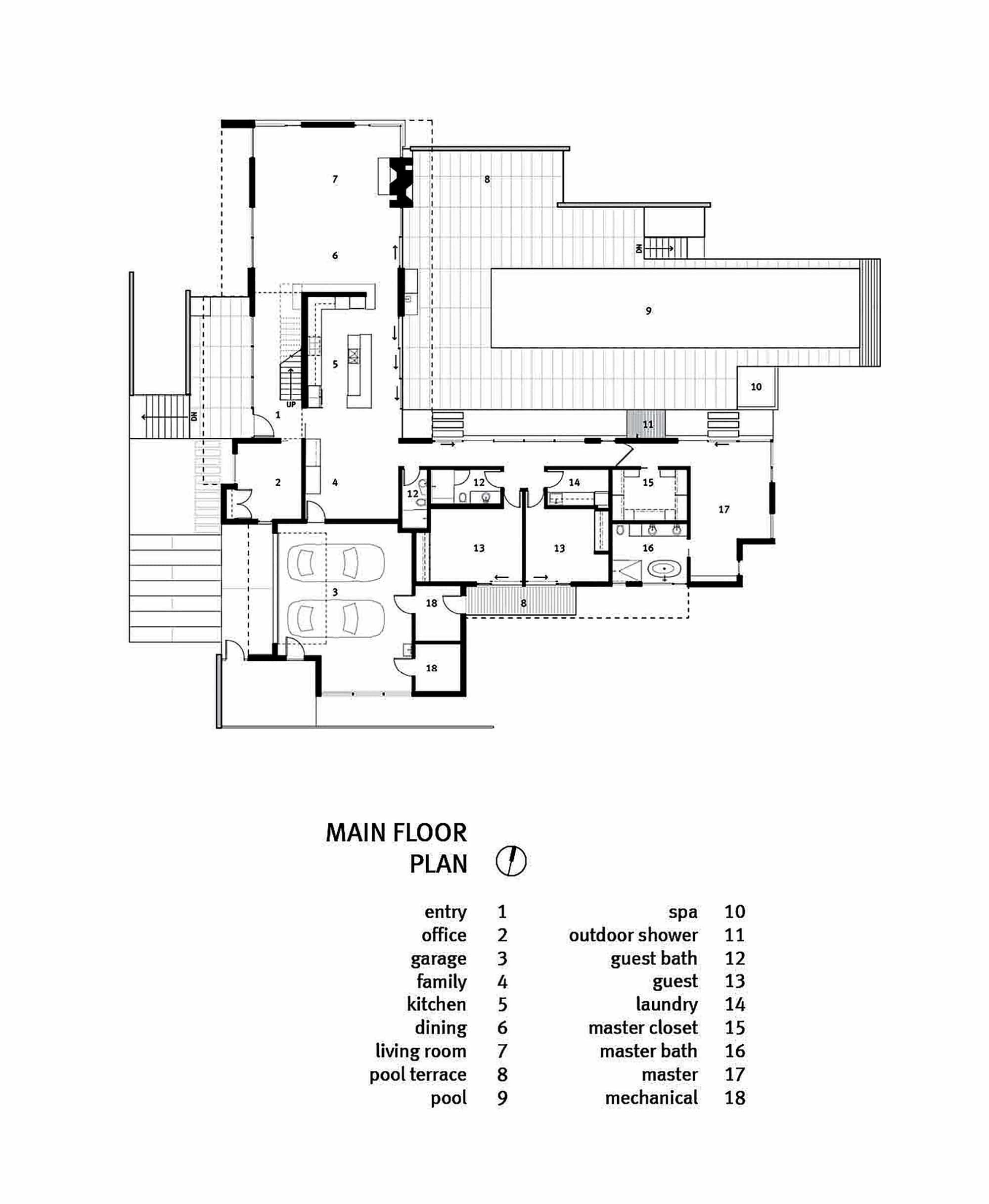 Dise o de casa de un piso moderna planos construye hogar for Plano casa un piso