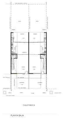 Detalles de casa de dos pisos - primer piso