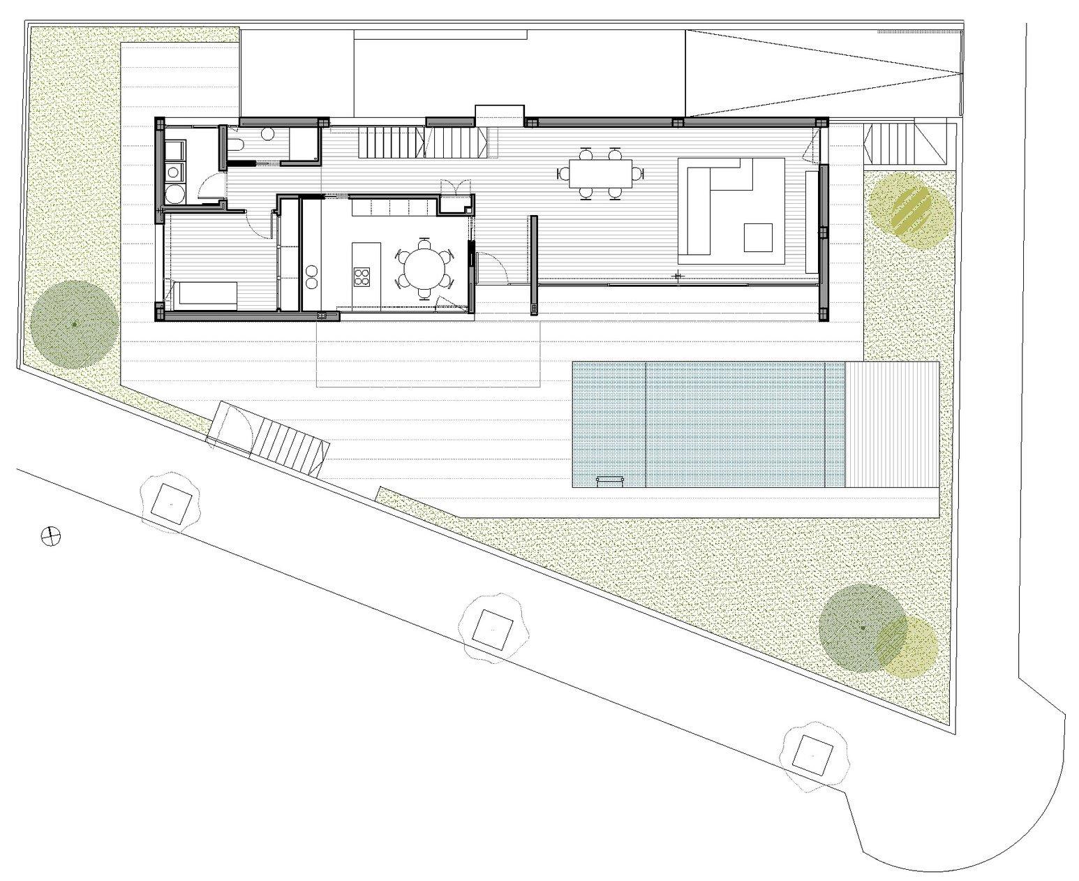 Dise o de casa con piscina de dos pisos construye hogar for Planos para segundo piso