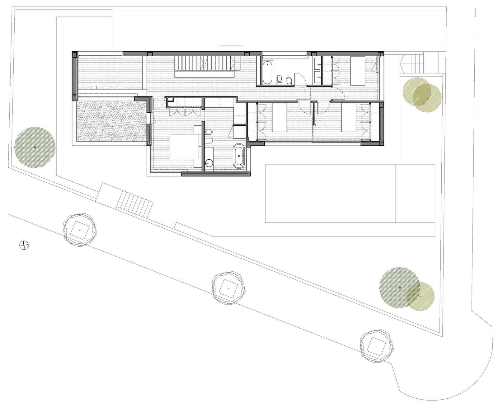 Plano del segundo piso de la moderna casa de dos pisos for Construye hogar