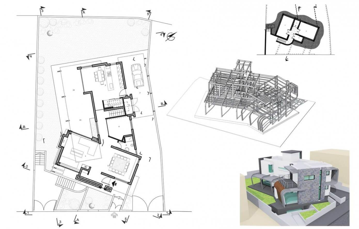 Dise o de casa moderna de dos plantas construye hogar - Plano casa dos plantas ...
