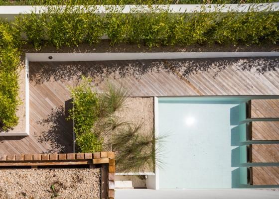 Detalles con madera en casa moderna