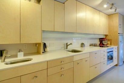 Diseño de cocina de departamento pequeño