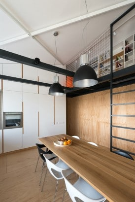Diseño de comedor casual de loft