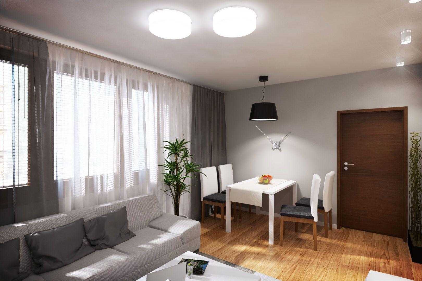 Dise o departamento peque o 62 m planos construye hogar for Decoracion living comedor departamento