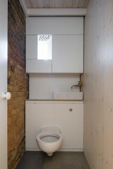 Diseño de cuarto de baño muy pequeño estilo rústico