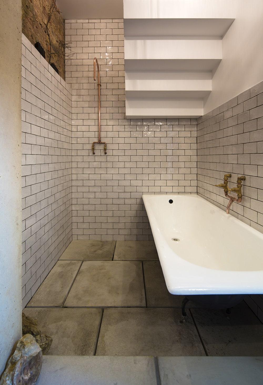Griferia Baño Rustico:Diseño del cuarto de baño principal (ubicado en primer piso), cuenta