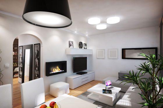 Dise o departamento peque o 62 m planos construye hogar for Chimeneas en apartamentos pequenos