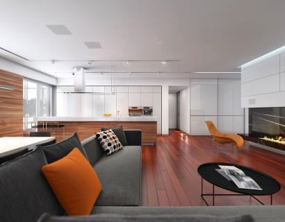 Diseño de sala y cocina comedor