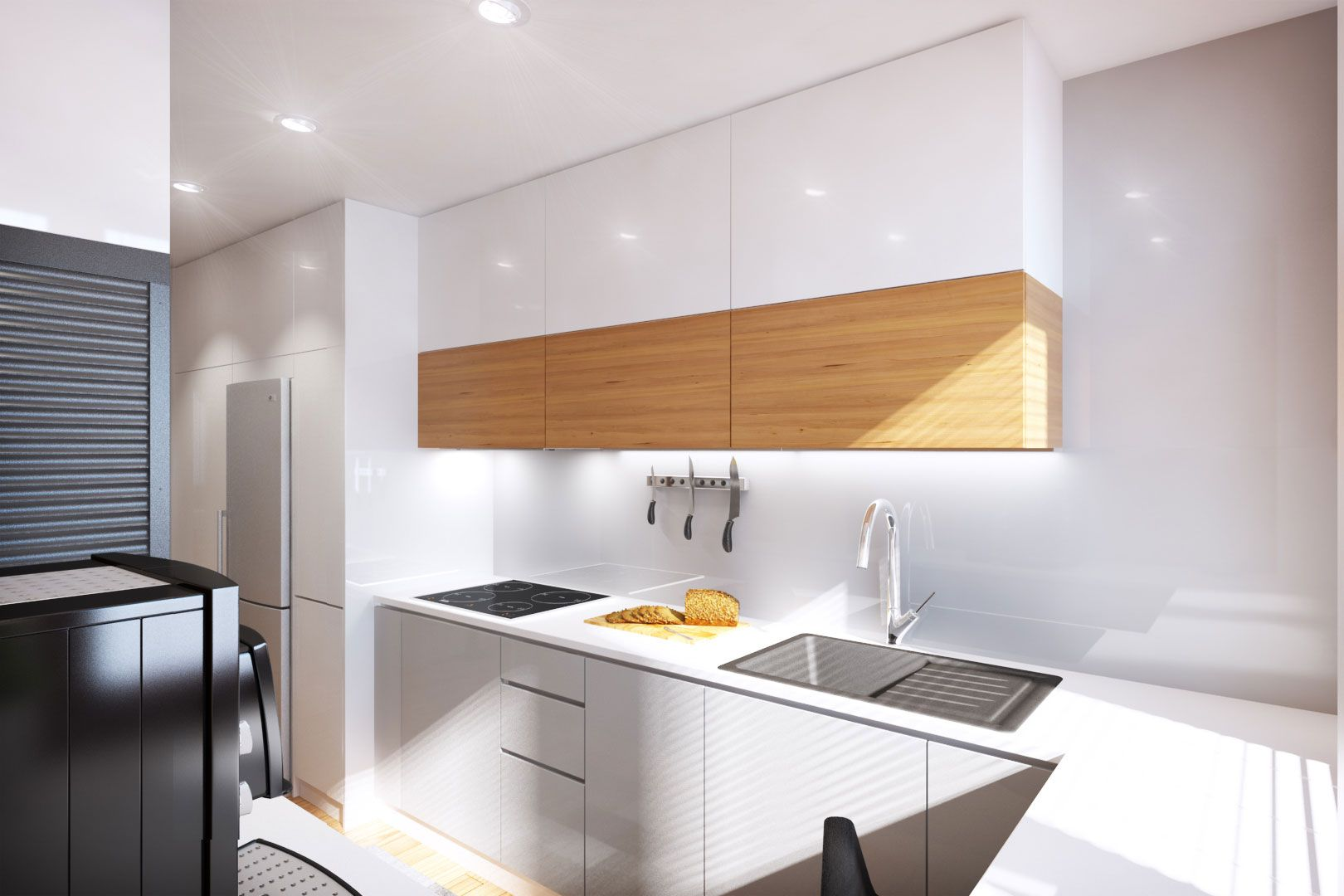 Ideas de color de la cocina con muebles blancos - Muebles De Cocina Blancos Con Madera Muebles Blancos De Cocina Combinado Con Madera Color Natural