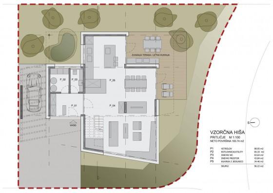 Planos de casa de dos plantas - Primer piso