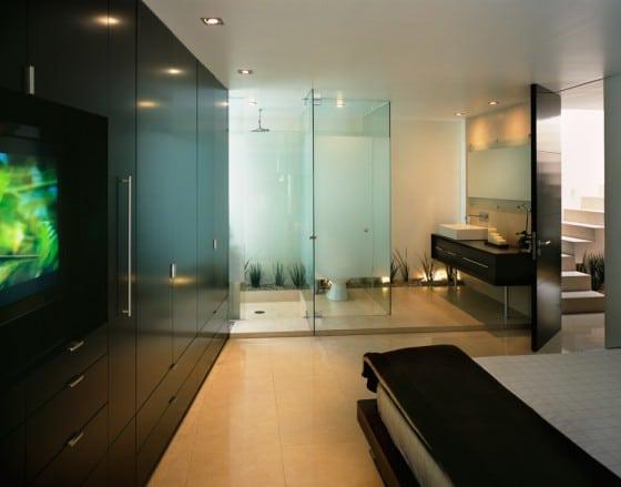 Cuarto de baño dentro de dormitorio