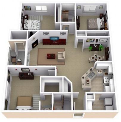 Departamento grande de 2 dos dormitorios