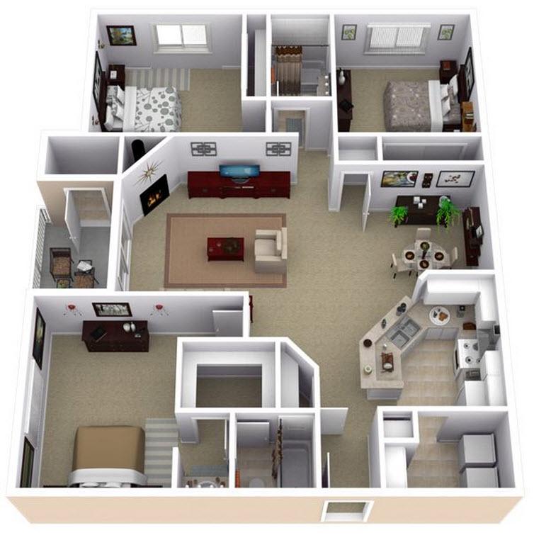Departamento grande de 2 dos dormitorios construye hogar - Construye hogar ...