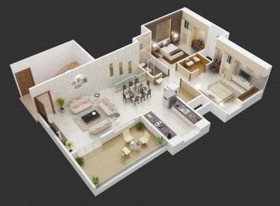 Departamento grande dos dormitorios