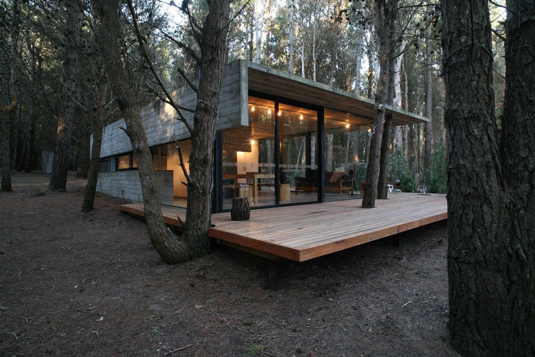 Dise o de casa de campo peque a de un piso construye hogar - Casa de hormigon ...