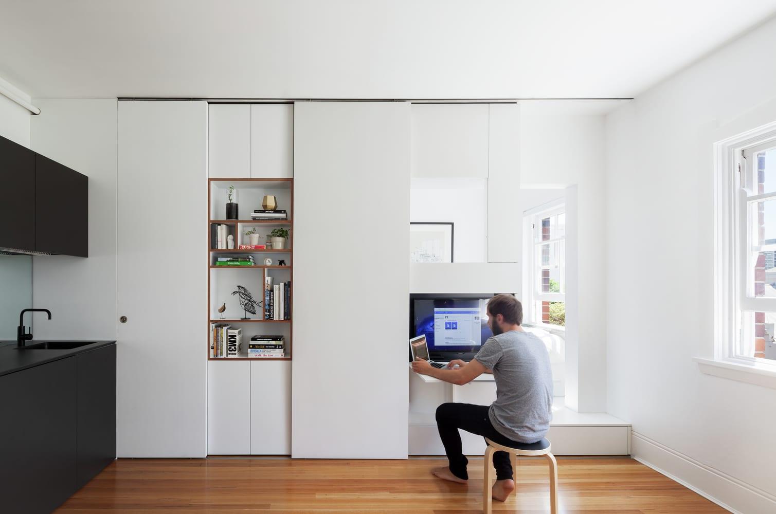 Pr ctico departamento de 27 metros cuadrados construye hogar - Aprovechar espacios pequenos dormitorios ...